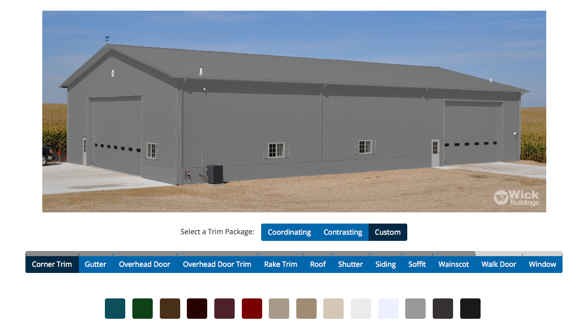 Design your New Post Frame Building. Pick your colors