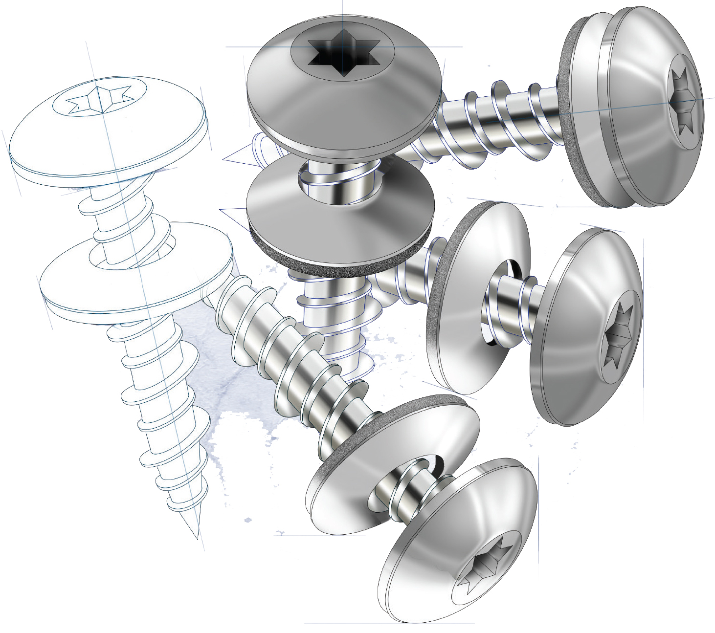 Screws are our standard fasteners, not nails. Building Stronger Buildings